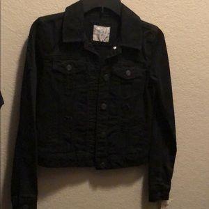 XS Black denim jacket